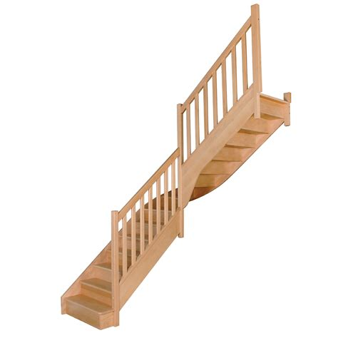 Escalier Quart Tournant Milieu 760 by Virgo Escaliers Flin