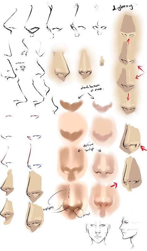 anime nose drawing anime noses by moni158 on deviantart