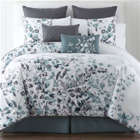 bedding at jcpenney liz claiborne 174 silhouette floral 4 pc comforter set