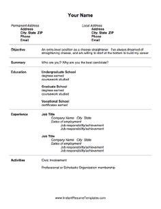 Resume Limited Experience 1000 Images About Shi On Resume Templates