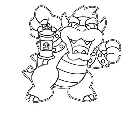 coloring page bowser baby bowser coloring pages az coloring pages