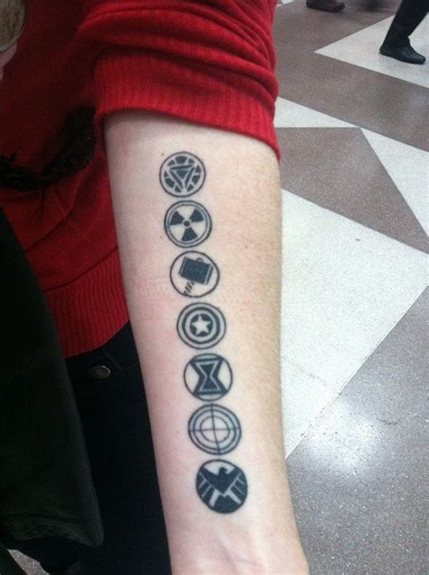 awesome avengers symbols tattoo tattoos pinterest