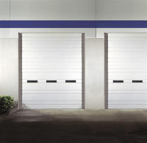 ribbed steel industrial garage doors non insulated