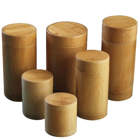 Bamboo Storage Box Besar handmade tea box bamboo storage box tea canister lid seal kitchen storage jars accessories spice