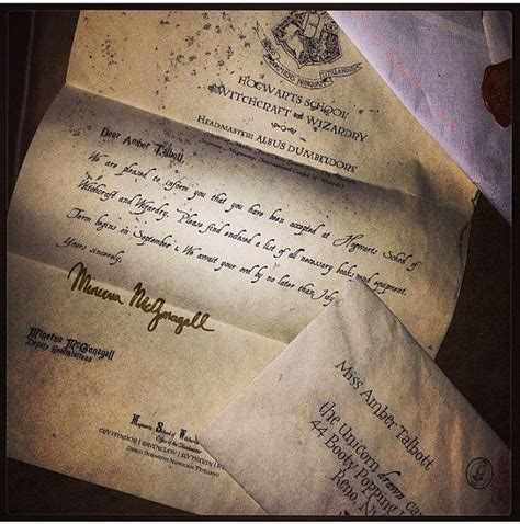 Hogwarts Acceptance Letter Personalised Hogwarts Acceptance Letter Personalized Harry Potter Letter Parchment