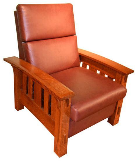 craftsman style recliner mission style recliner mission chair wm morris style