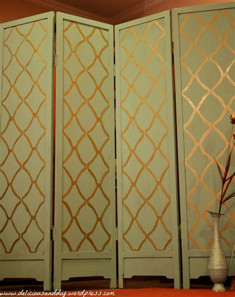 Handmade Room Dividers - room divider makeover with stenciling delicious and diy