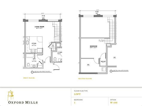 1 bedroom with loft floor plans floor plans