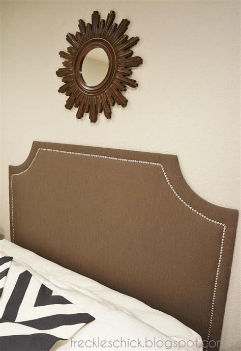 Diy Upholstered Headboard With Nailhead Trim by Diy Upholstered Headboard With Nail Trim I Think I