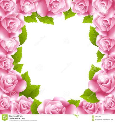 cornici pagina pagina fatta delle rosa con la cornice di testo