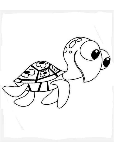 coloring pages of squirt from finding nemo crush and squirt coloring pages free printable crush and