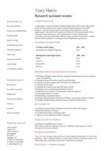 student entry level research assistant resume template