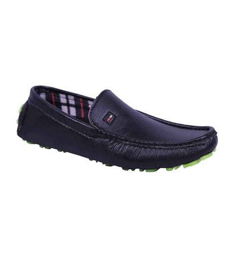shoe india black synthetic leather casual shoes for