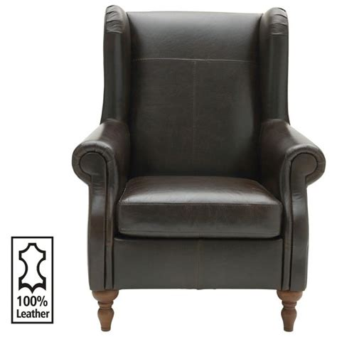 armchairs argos buy heart of house argyll leather chair chocolate at