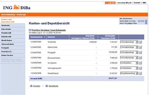 bank diba diba banking musterdepot er 246 ffnen