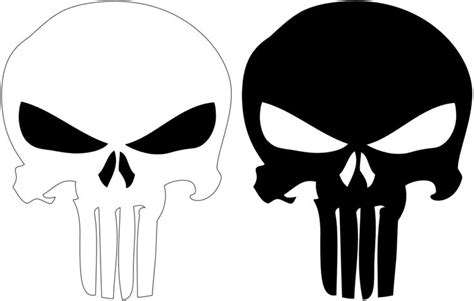 punisher template logo de punisher tattoos logos and punisher