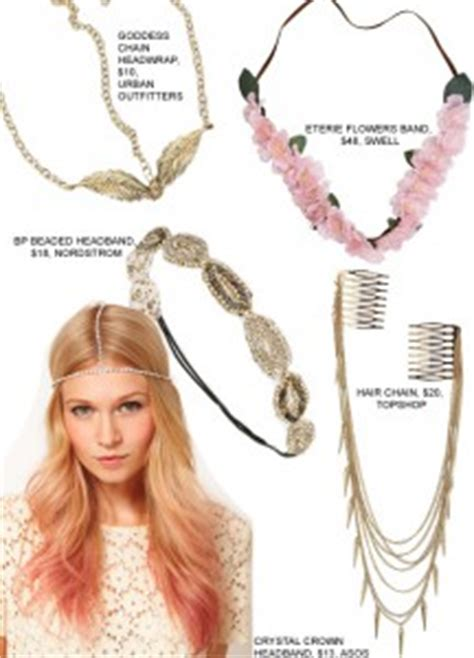 what is trending in accessories for 50 year old women adorn your hair with the hippie chic head jewelry trend