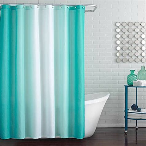 Peacock Blue Curtains Blaire Shower Curtain In Peacock Blue Bed Bath Beyond