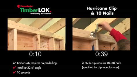 timberlok 6 hurricane tie replacement fastenmaster fastenmaster 6 timberlok vs hurricane ties youtube
