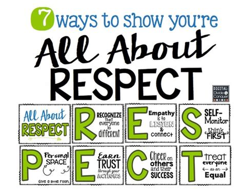 Printable Respect Quotes | 27 classroom poster sets free and fantastic teach junkie