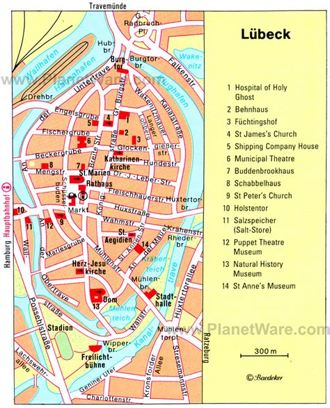 lubeck city map lubeck map