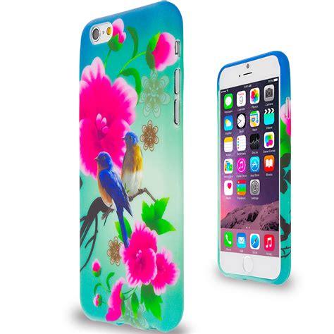 Flower Skull Apple Iphone 6 Plus Tpu Hybrid Soft Rubber Side blue bird pink flower tpu design rubber skin cover for apple iphone 6 6s 4 7