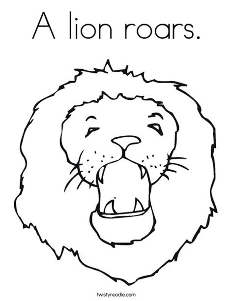 birthday lion coloring page a lion roars coloring page twisty noodle maybe for a