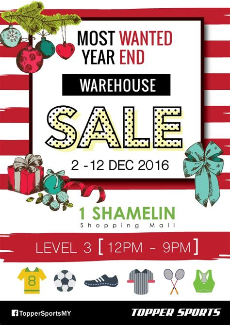 new year warehouse sale 2016 topper sports warehouse sale year end clearance jualan
