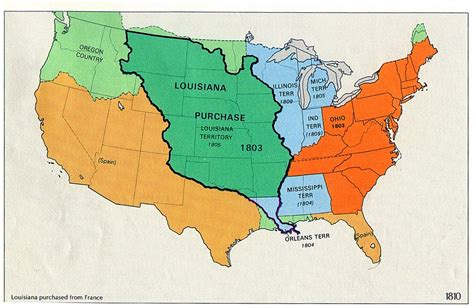 louisiana purchase map 19th century america