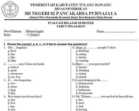 B Inggris Kelas 11 Sma Ma Semester 2 Kurikulum 2013 Revisi 2014 Dikb soal bahasa inggris sd kelas 4 bank soal ujian