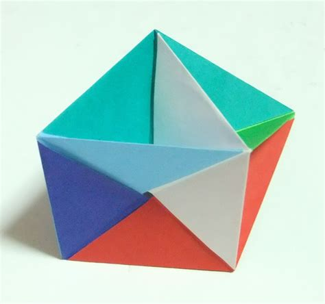 Origami Prism - modular polyhedra from waterbomb base units abstract