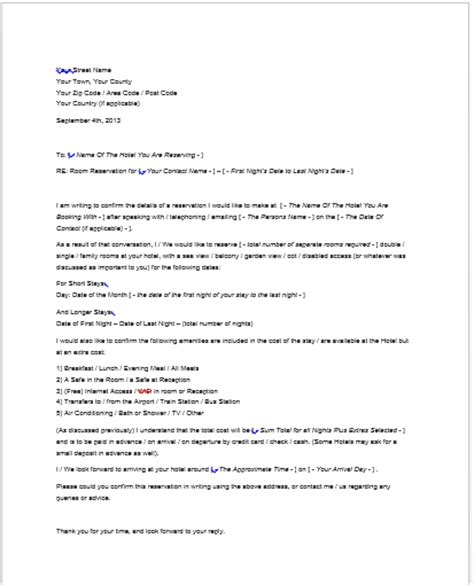 Hotel Business Letter Sle Event Cancellation Policy Template Cancellation Letter Booking Hotel Letter Sle