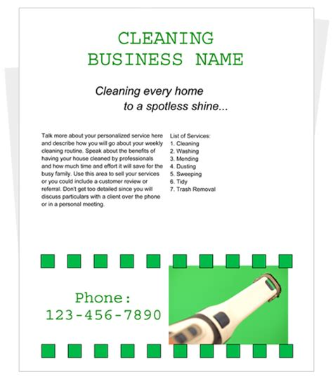 cleaning flyers templates free cleaning business flyer by cleaningflyer