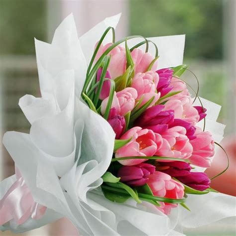 Bunga Tulip Artificial Import White Pink Tulips For Sale Tulip Flower Delivery Singapore