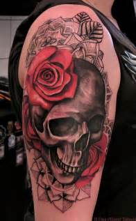 skull and roses sleeve tattoo interior home design