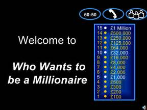 who wants to be a millionaire powerpoint templates who wants to be a millionaire the