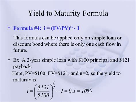 exle of yield to maturity learning unit 09 interest rate