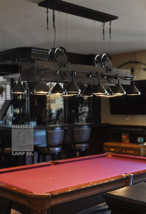 wood pool table light best 25 pool table lighting ideas on
