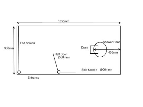 Walk In Shower Sizes by Minimum Doorless Walk In Shower Dimensions Studio