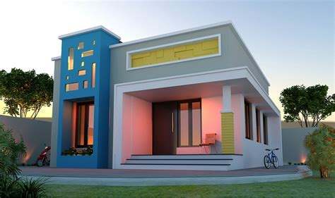 sq ft  cost single storied modern home design