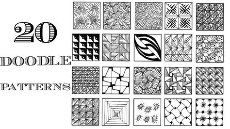 doodle patterns youtube simple zentangle patterns for beginners www pixshark com