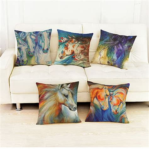 photo print pillow color painting pillows for home decoration