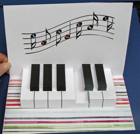 amazing paper pop up card templates piano keyboard pop up card paper crafts scrapbooking