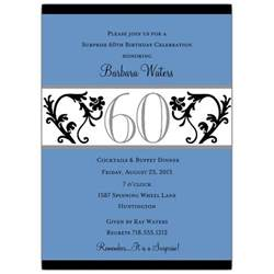 elegant vine chartreuse 60th birthday invitations paperstyle