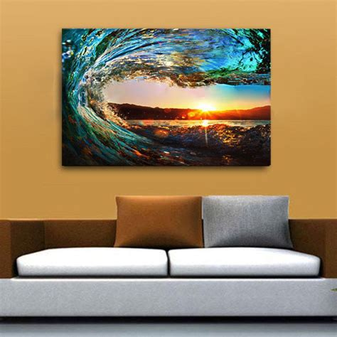 large canvas prints wall home decor pictures sea wave