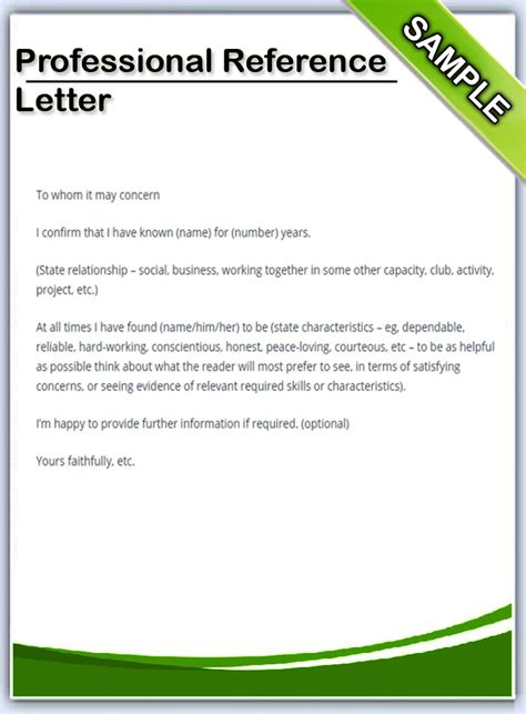 professional reference letter best photos of exle of professional reference letter