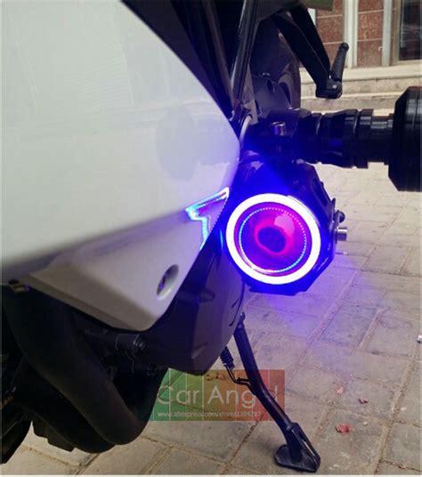 pc  led motorcycle headlight angel eyes motorbike