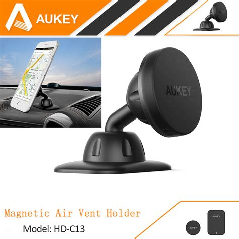 aukey car holder dashboard car mount magnetic phone holder cradle for iphone 7 6s plus samsung