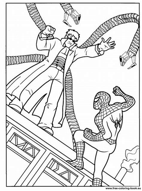 Coloring Pages Spiderman Page 2 Printable Coloring Coloring Book Spiderman2