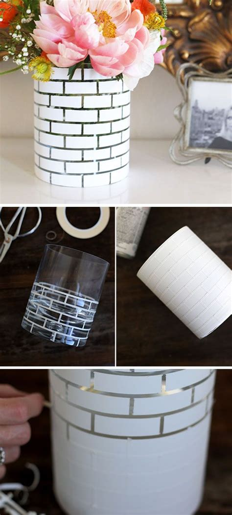 diy white brick vase diy home decor ideas   budget